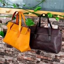 Luxury Brand Cow Leather Tote Bags Designer Retro Cowhide Handbags Women Shoulder Bags Fashion Female Large Capacity Liner Bag цены