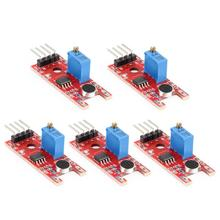 цена на 5pcs Smart Electronics KY-038 Mic Voice Sound Detection Sensor Module Microphone Transmitter Smart Robot Car for arduino DIY Kit