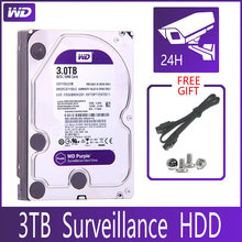 Wd roxa vigilância 3tb disco rígido sata iii 64m 3.5