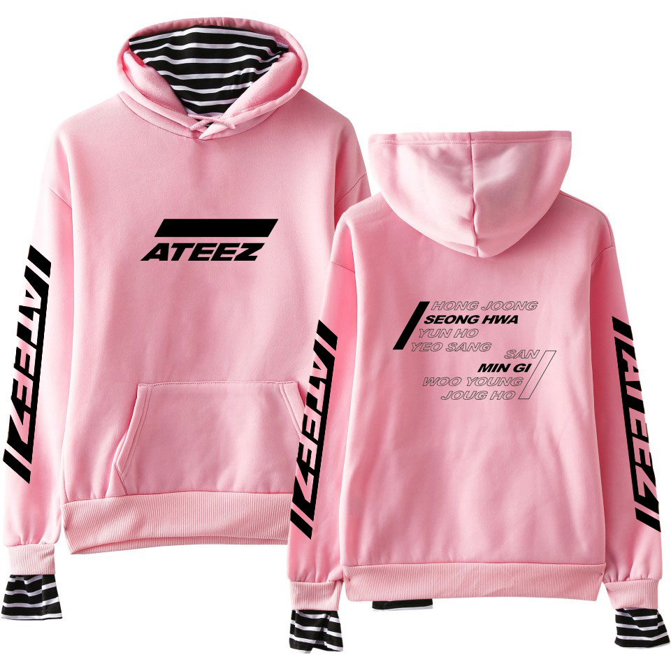 LUCKYFRIDAYF Hoodies ATEEZ Women Clothes 2019 Fashion Hoodies Sweatshirts Youtu Hip Hop Kpop Casual Harajuku Tops Plus Size