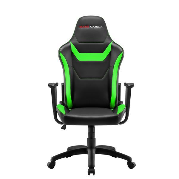 Chair Gamer Mars Gaming Mgc218bg Color Black Details In Green AND Carbono Recliner Double Layer Padding Leather Sintet