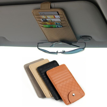 ארגונית כרטיסים ומסמכים לרכב + מתלה למשקפיים  1