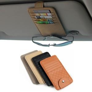 Image 1 - Car Auto Sun Visor Point Pocket Organizer Pouch Bag Card Glasses Storage Holder Car styling
