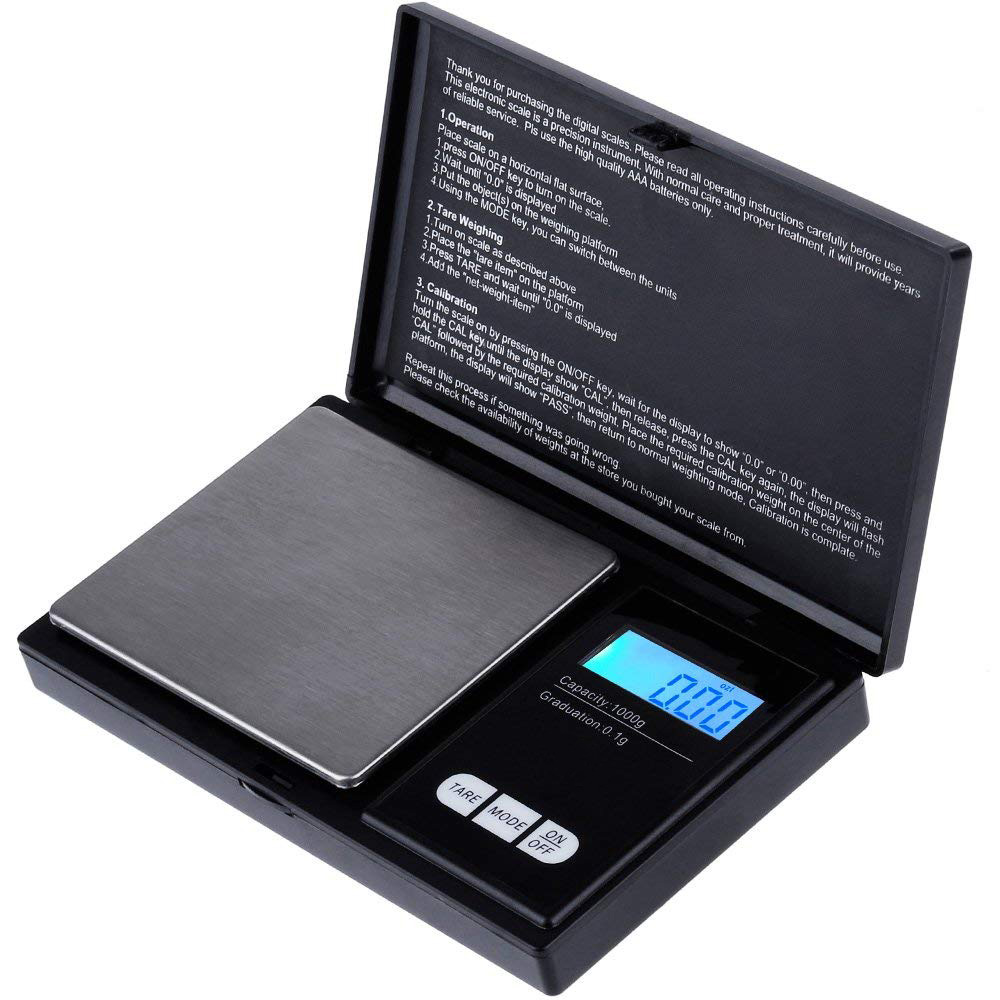 Digital Pocket Scale 1000g x 0.1g, Kitchen Scale, Jewelry Scales Mini Electronic Scale