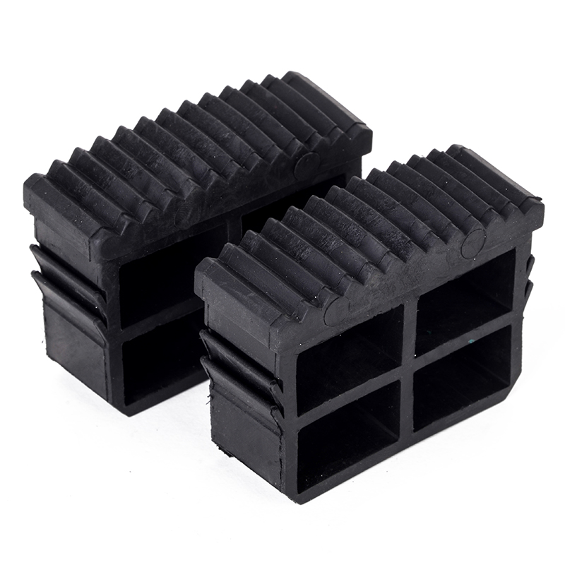 2pcs Black Rubber Step Ladder Feet Non Slip Ladder Foot Replacement Grip Cover Tools
