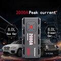 2000A Piek Auto Jump Starter Pack Draagbare LED Zaklamp Power Bank USB Auto Batterij Supply Telefoon Power Klemmen Voor 12V Auto Boot