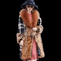 Шерстяное пальто женская зимняя одежда женское Шерстяное двухстороннее пальто с мехом одна женская длинная секция женская одежда сетка