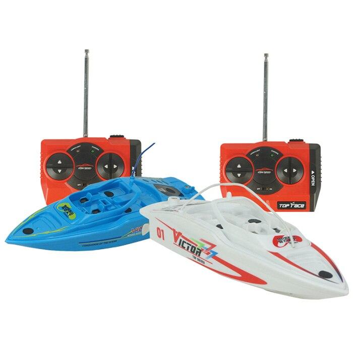 2 pièces haute vitesse RC bateau grand navire télécommandé 4CH haute puissance 2.4 V jouet bateau en plastique modèle RC hors-bord en plein air jouets