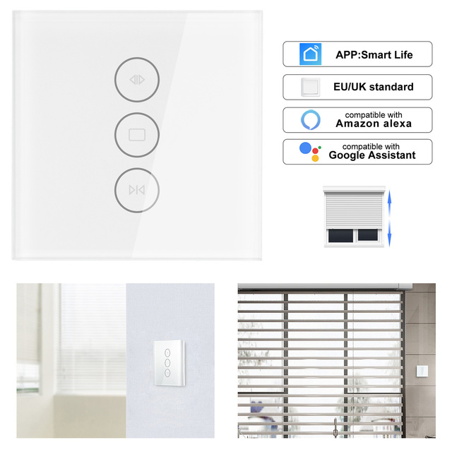 Wifi Electrical Blinds Switch Touch App Ac110 To 250v For Voice