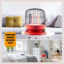 4x 220V 800W Mini Electric Room Heaters Energy-Saving Bird Cage Shape Desktop Heating Device for Winter Household Bathroom Etc(China)