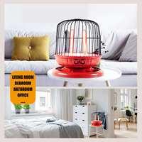4x 220V 800W Mini Electric Room Heaters Energy Saving Bird Cage Shape Desktop Heating Device for Winter Household Bathroom Etc