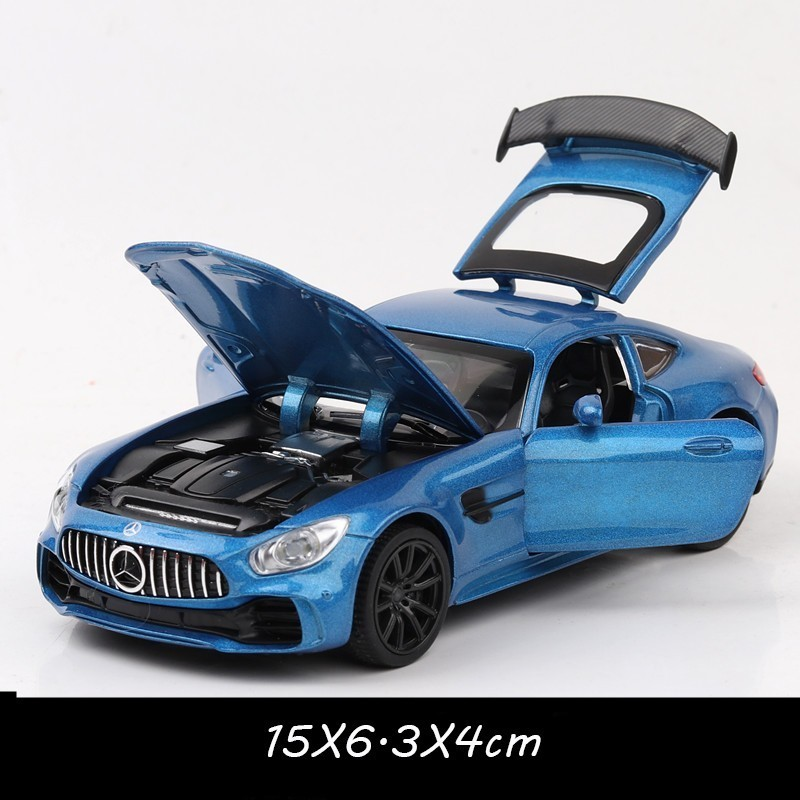 1 32 Alloy Bens GTR AMG Pull Back Diecast Super Car Model Sound Light Vehicles Toys For Children Oyuncak Araba Birthday Gifts in Diecasts Toy Vehicles from Toys Hobbies
