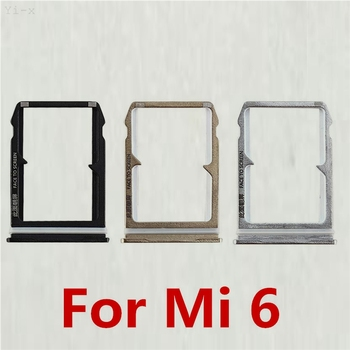 10PCS/lot SIM Card Tray Holder Slot For Xiaomi 6 mi6 MI 6 SIM Holder Slot Container Adapter