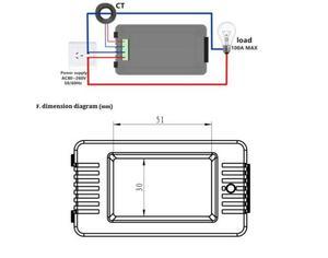 Image 3 - DYKB AC Combo mètre ca 110V 220V 100A tension numérique voltmètre dénergie ampèremètre puissance courant Watt fréquence LCD indicateur 10A