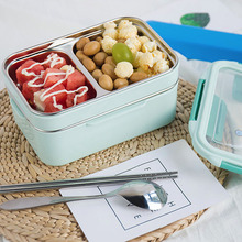 Bento Box Double Layer Food Container Stainless Steel Lunch for Kid Adult Healthy Material Portable Storage