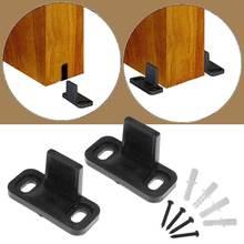 4,5*2*2,2 см регулируемый напольный Руководство клип раздвижные двери сарая дно настенное крепление напольная направляющая s w/Винты Комплектующие дверей набор черный