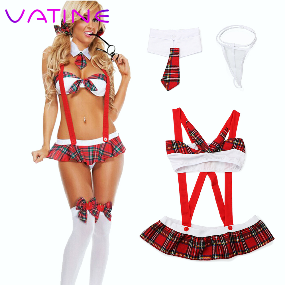 VATINE Sex Play Sleeveless Sexy Maid Outfit Erotic Clothing Sexy Lingerie Exotic Costumes Uniform Sexy