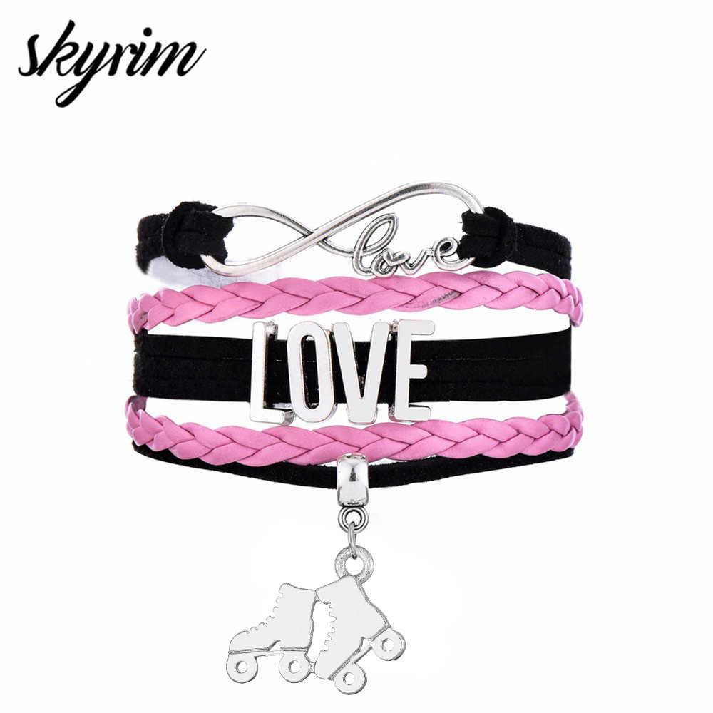 Skyrim Изготовление ювелирных изделий, спортивные Многослойные плетеные браслеты Бесконечная любовь, обувь для катания на коньках, очаровательный подарок для девочки