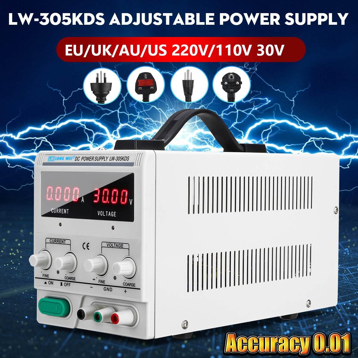 LONG WEI LW-305KDS 30V 5A 110/220V DC Power Supply Regulated Adjustable 0.01 Precision Variable Digital LabLONG WEI LW-305KDS 30V 5A 110/220V DC Power Supply Regulated Adjustable 0.01 Precision Variable Digital Lab