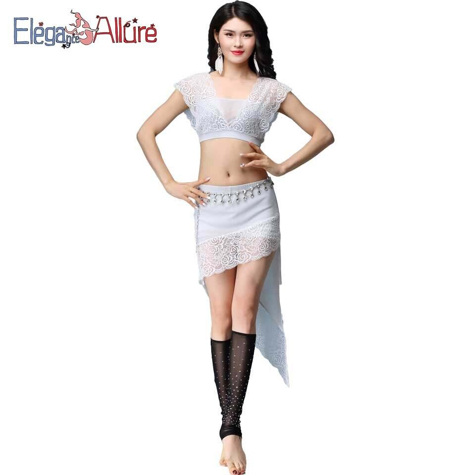 E&A Sexy Belly Dance Costume Set Top Shirt Skirt Women Belly Dancing Clothes Beginner Bellydance Eastern Oriental Indian Wear