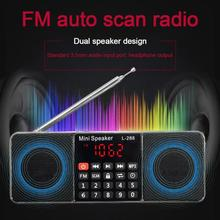 FM Radio Speaker L-288 Support TF Card U Disk MP3 Music Player Loudspeaker
