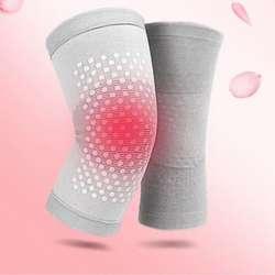 2 шт. самонагревающийся турмалиновый коврик Магнитная терапия ремень для поддержки колена массажер колено рукав