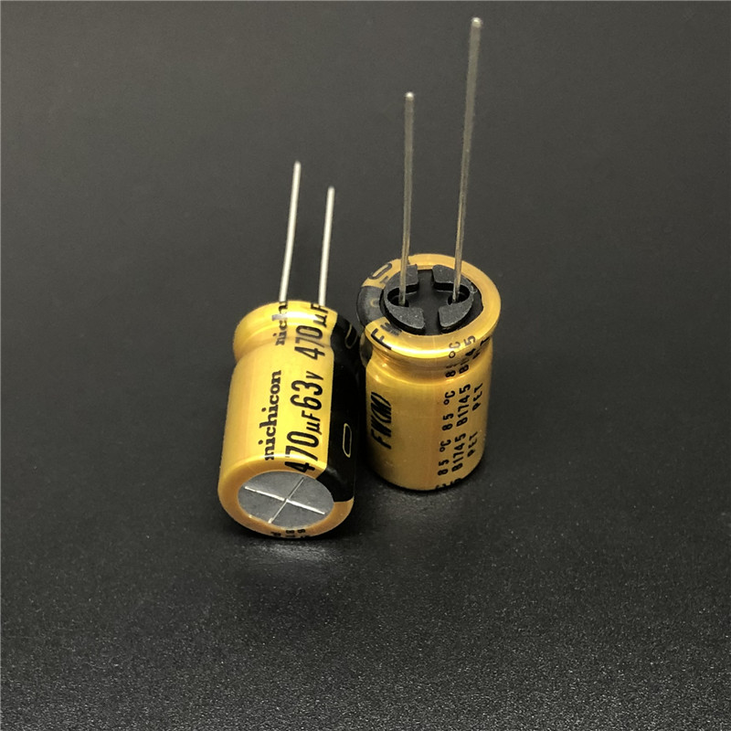5pcs/20pcs 470uF 63V NICHICON FW Series 12.5x20mm 63V470uF HiFi Audio Capacitor