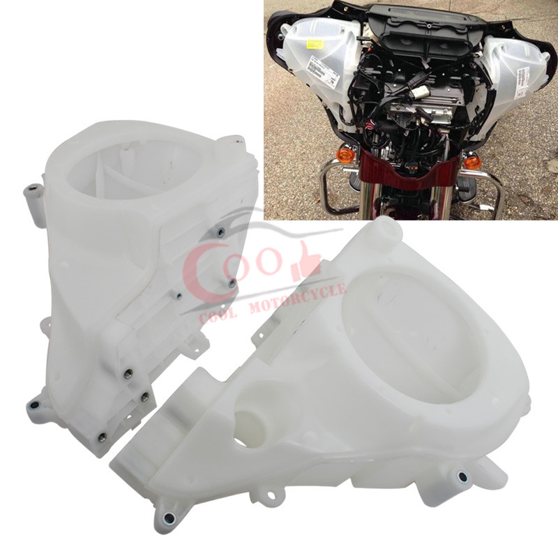 Motorcycle Accessories White Inner Fairing Speakers Cover Fits For Harley Touring Street Glide 2014 2018 Free