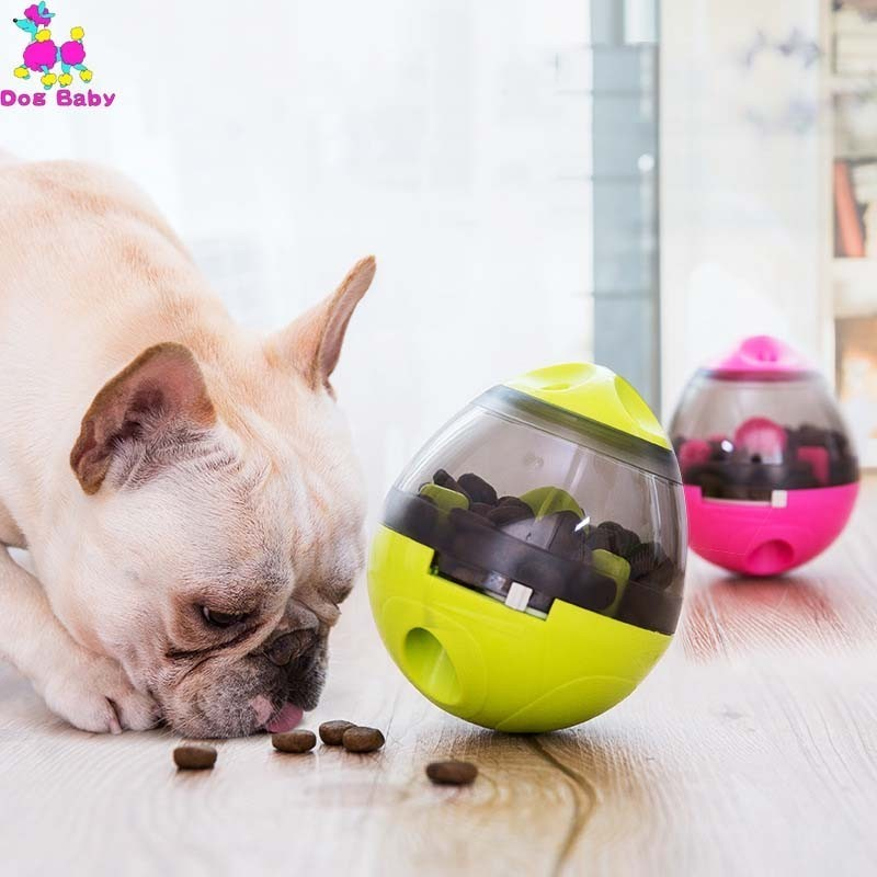 Interactive Dog Cat Food Treat Ball Bowl Toy Funny Pet