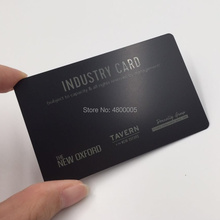 85*54mm  0.5mm thickness Black metal business card laser words and deep etched VIP pvc embossed business card and vip card supply