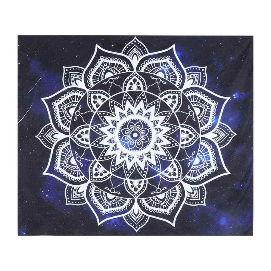 Tapiz de estilo indio de Cikonielf tapiz de pared de poliéster tapiz de sofá manta de Yoga alfombra elefante ojo flor patrón