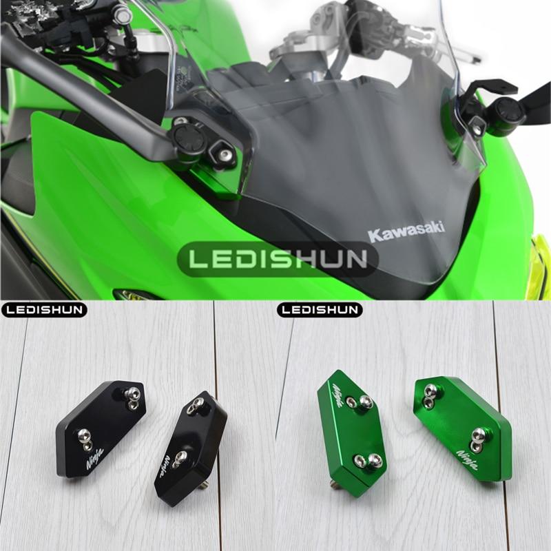 For Kawasaki NINJA 400 NINJA400 2018 18 CNC Aluminum Motorcycle Windshield Rising Kit (30mm) Airflow Adjustable Windscreen