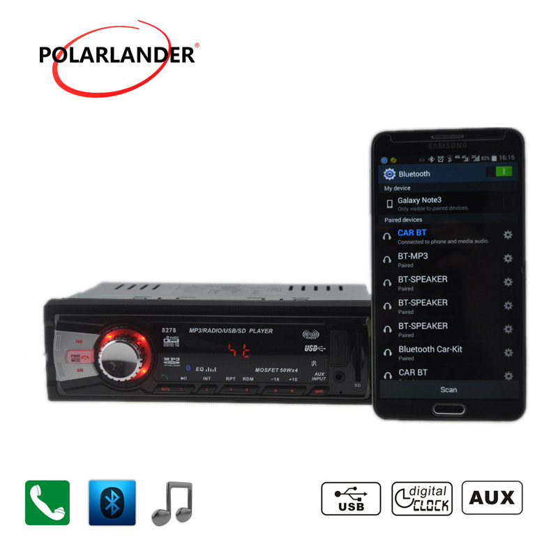 Autoradio auto tapes car radio stereo 12V mp3 radio cassette player car audio Bluetooth/SD Card/USB Port/AUX IN/charger/in 1 din image