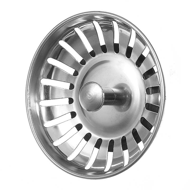 Xueqin 浴室脱臭型流域シンク 304 ステンレス鋼キッチンシンクシンクストレーナーストッパー廃棄物プラグシンクフィルター