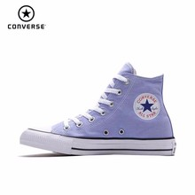 купить Converse Chuck Taylor All Star Men & Women Unisex Leisure Skateboarding Shoes High Classic Outdoor Sneakers # 160455C дешево