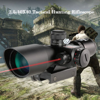 2.5 10X40 Riflescope Green Red Dual Illuminated Reticle Tactical Riflescope Mil Dot Hunting Scope Sight Sports Telescope
