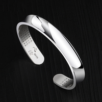 New Arrival 10mm Width Fine 999 Solid Silver Bangle for Man Woman High Polished 60cm Inside Adjustable Size