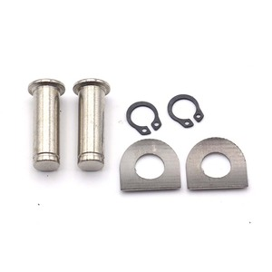 9mm Foot Pegs Mount Kit Pins Motorcycle Footrest Pedal Pads Bolt For Harley Softail Dyna Sportster V Rod Night Rod FLHX(China)
