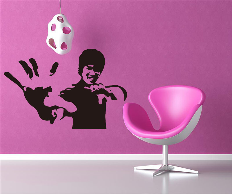 Decorate kongfu art wall sticker decoration Decals mural painting Removable Decor Wallpaper LF 1923 in Wall Stickers from Home Garden
