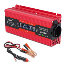 2000W 2000 Watt DC 12V/24V to AC 220V 230V 240V Auto Inverter LCD Display Power Inverter EU/ Universal Outlet with Cigarette(China)