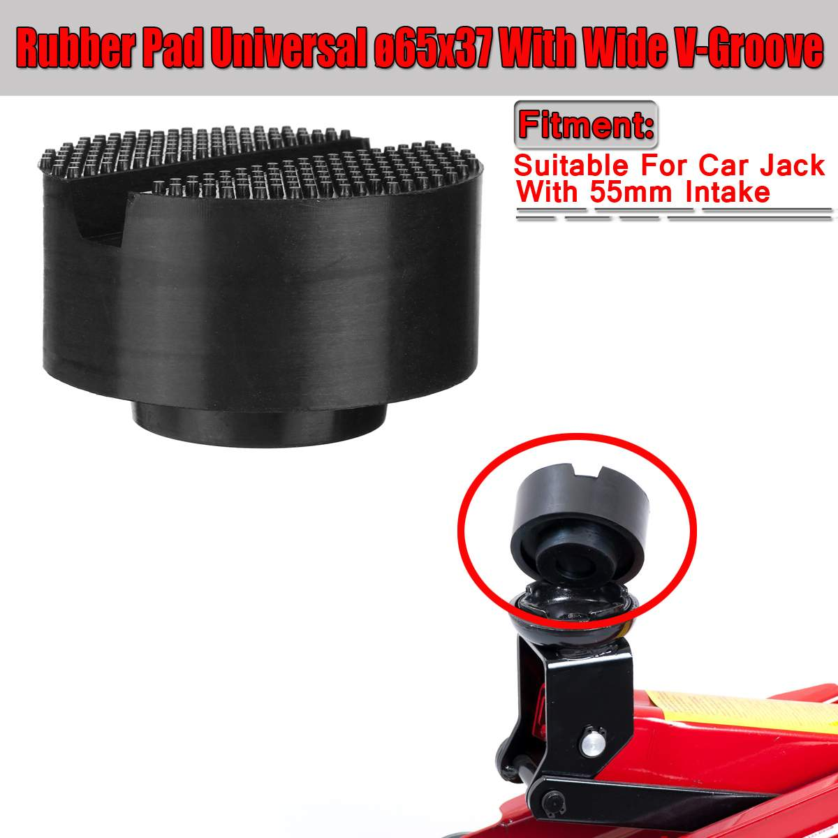 Universal 65x37mm Motor Rubber Pad For Lifting Jack Lift Disk Frame Protector Guard Adapter Car Repair Tool With Wide V-Groove