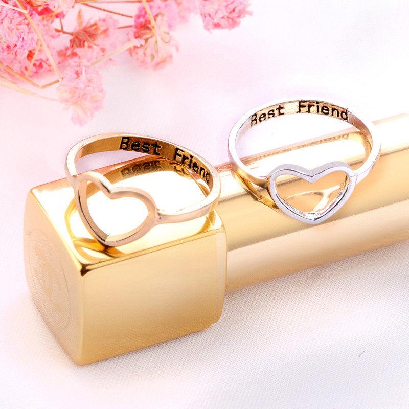 Best Wedding Gift For Girl: Love Heart Rings Best BFF Women Ring Gifts For Girls