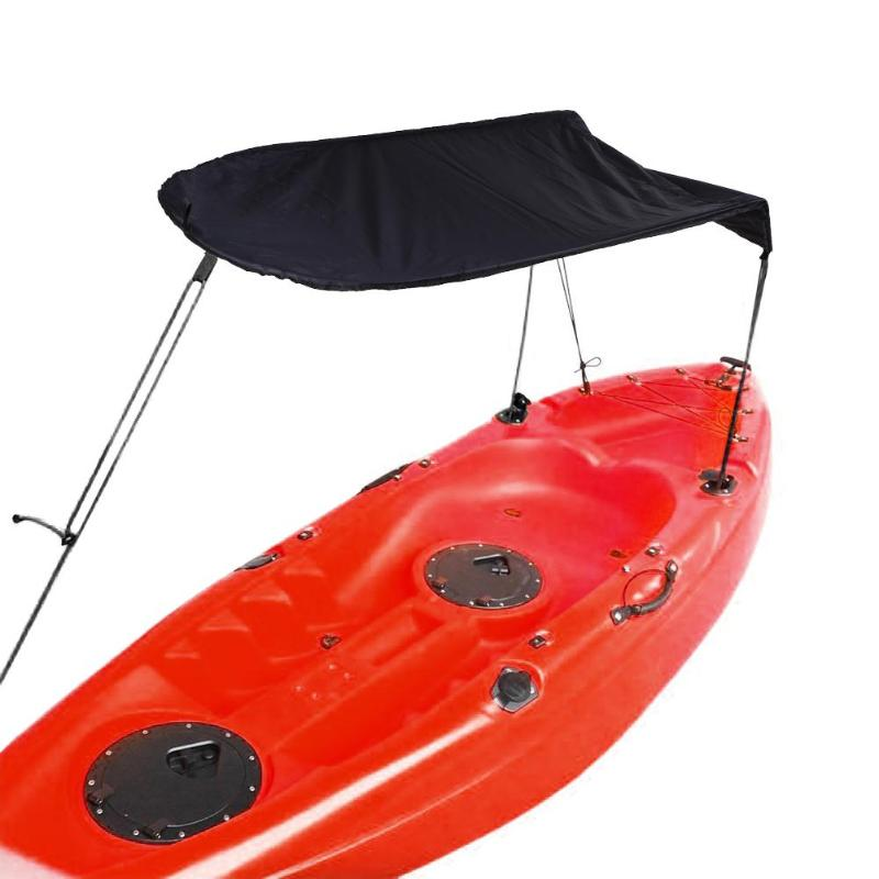 US $26 76 26% OFF|Outdoor 1 person Inflatable Boat Canoe Kayak Sun Shelter  Awning Top Cover Sun Shade Blue for Camping Hiking Fishing Equipment-in