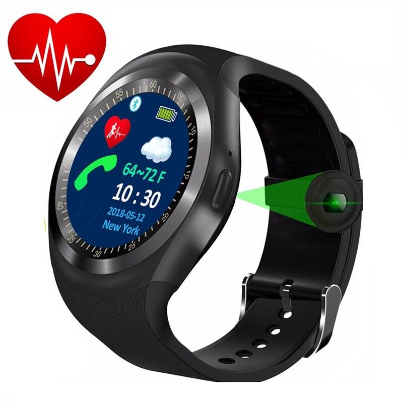 Passometer KESHUYOU Esporte smart watch monitor de Freqüência Cardíaca homens relogio smartwatch TS1 SIM Suporte o Cartão Do TF para o telefone android