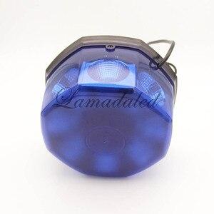 Image 4 - 12V24V blu luminoso eccellente 40W polizia ha condotto le luci stroboscopiche faro con magnetica per ambulanza camion dei pompieri stroboscopio avvertimento lampada