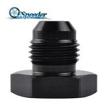 ESPEEDER AN6 анодированный головка из алюминиевого сплава женские, с расклешенным конец Кепки заглушка мазута прямой шланг с фитингами адаптер Черный