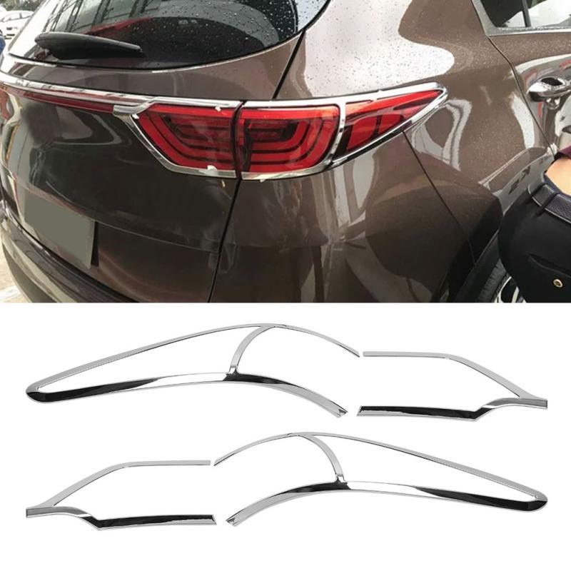 4 Pcs Car Rear Tail Light Lamp Decoration Cover Trim For Kia Sportage KX5 QL 2015 2016 2017 2018 Car Styling Tail Light Frame