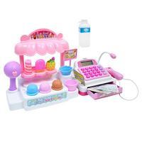 1 Set Supermarket Cash Register Toy Cashier Desk Play House Toy For Children Pretend Games Educational Simulation Toy