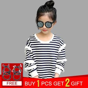 8810ffcc56 Abesay Striped Kids Tops Tee Teenage Girls T shirts Years