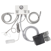 Portable 150PSI Dental Turbined Unit Work Wall Hanging Mini Turbined Plastic Shell 4 Holes Dental Tools Accessories Instrument